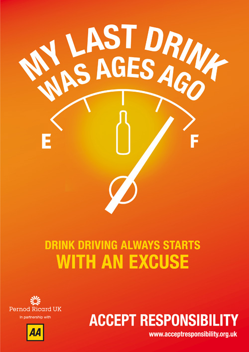 Mystery 'accepts responsibility' for a new drink-driving campaign